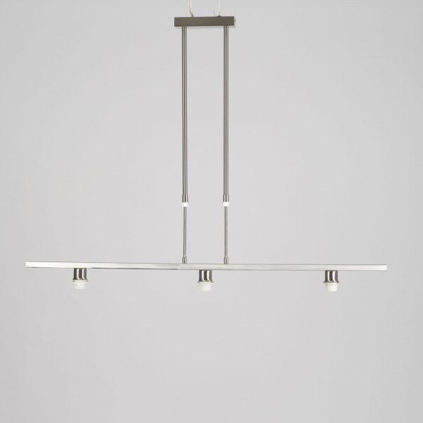 Pendel frame verstelbaar drie lichts staal RVS look