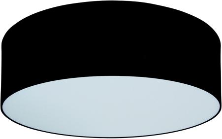 Zwarte Stoffen plafonniere - Groot 61x15 cm