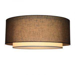Grijze Stoffen Plafondlamp -Linden 26 cm