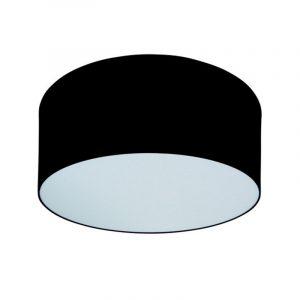 Zwarte Plafonniere - Plafonniere Stof Disq