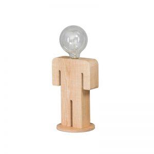 Tafellamp Hout Man