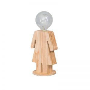 Tafellamp Hout Vrouw