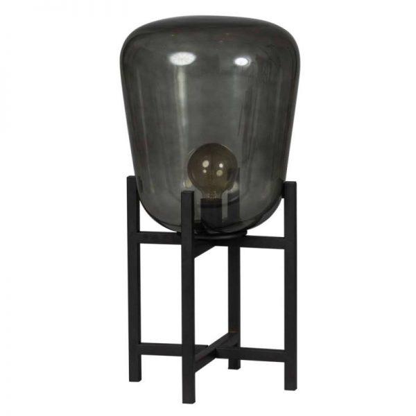 Benn Tafellamp met Rookglas Kap