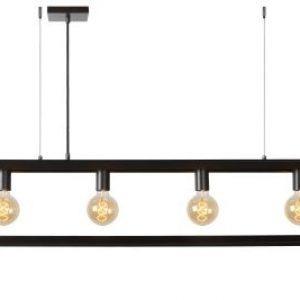 Construction hanglamp | Industrieel, langwerpig frame in grijs ijzer