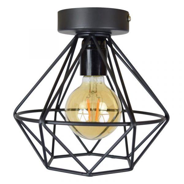 Wire Industriele Plafonniere - Draadlamp zwart