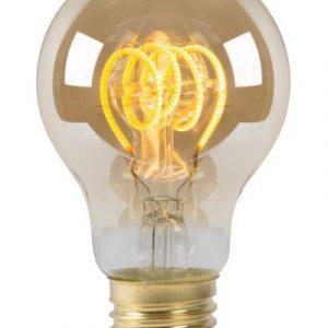 Led Lamp - Globe Basic Spiraal met Amber kleurig glas