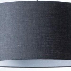 Gratis Kleurstaal - Donker grijze luxe linnen Stylish lampenkap