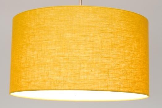 Gele luxe linnen lampenkap - Gratis kleurstaal