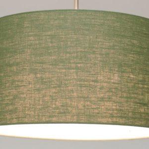 Gratis kleurstaal - Luxe linnen groene lampenkap (Stylish)