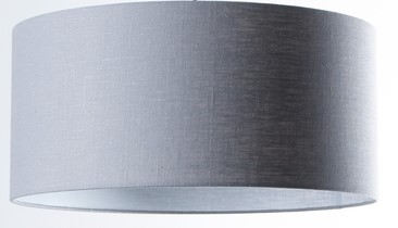 Gratis kleurstal - Licht grijze luxe linnen lampenkap (Stylish)