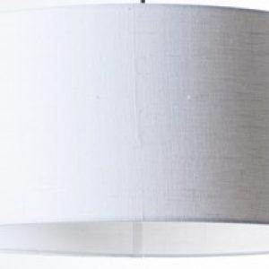 Gratis kleurstaal - Luxe Linnen Witte Lampenkap (Stylish)