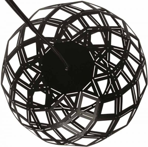 Hanglamp Urnaa | Zwarte Moderne Hanglamp 50 cm