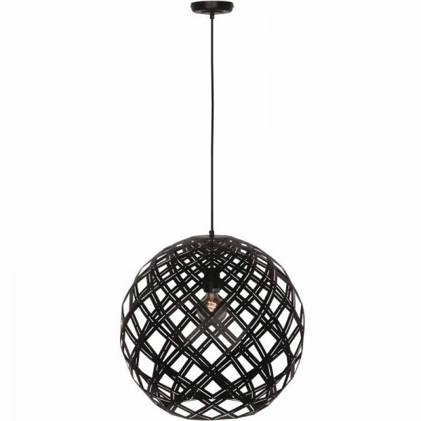 Moderne Zwarte Hanglamp Rond - Urnaa (50 cm)