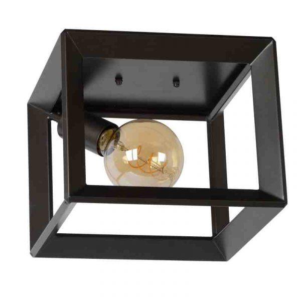Plafonniere Vierkant Metaal - Industriele lamp Construction