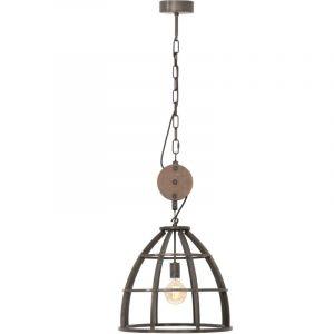 Hanglamp Kajuit | Industriele Hanglamp met metaal & hout
