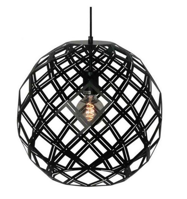 Urnaa 30 cm - Hanglamp met zwarte ronde kap