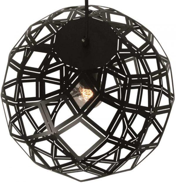 Urnaa 40 cm - Moderne Zwarte Ronde Plafondlamp