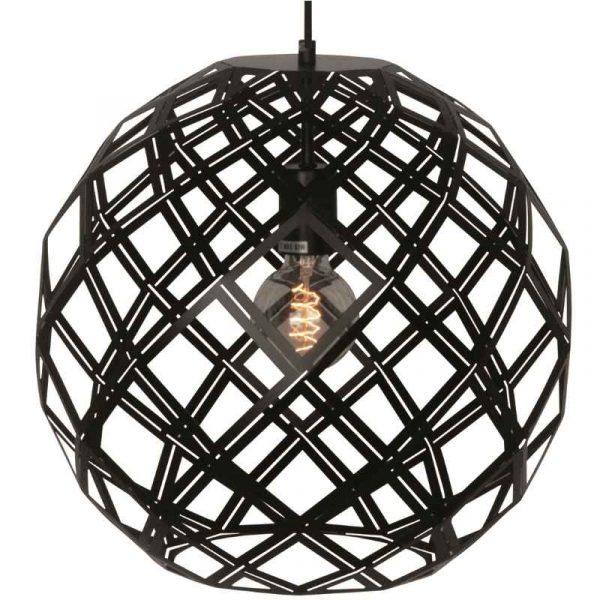 Urnaa 40 cm - Ronde zwarte hanglamp