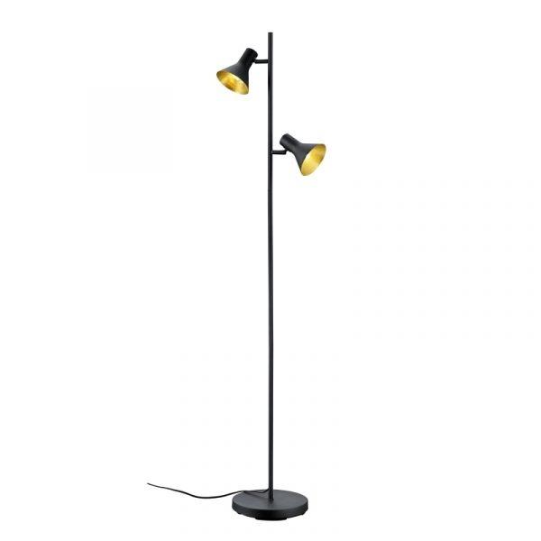 Industriele vloerlamp  met 2 spots - Seventy vloerlamp