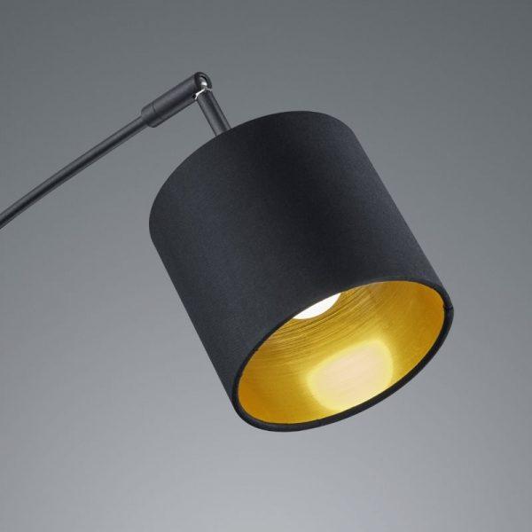 Lampenkap Zwart met Gouden Binnenkamt