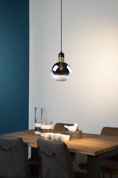 Kleine glazen hanglamp - Lonne (20 cm) met glazen bollen kap