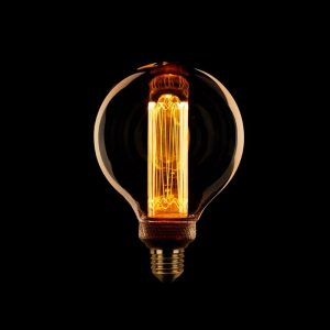 Globe LED Lamp - Kooldraad 95 mm Amber (3-stappen dimbaar)