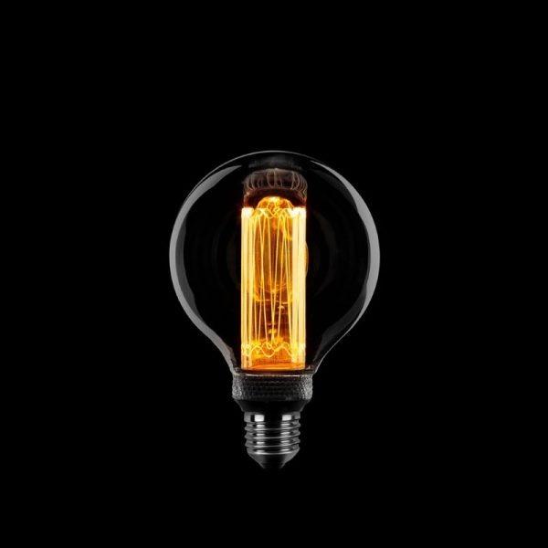 Kooldraadlamp Globe LED Lamp | Rookglas 80 mm Dimbaar