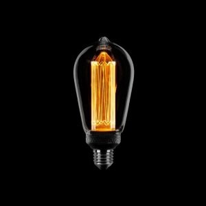 ETH Kooldraad Edison Led Lamp - Rookglas