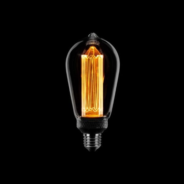 Kooldraad Edison Led Lamp - Rookglas