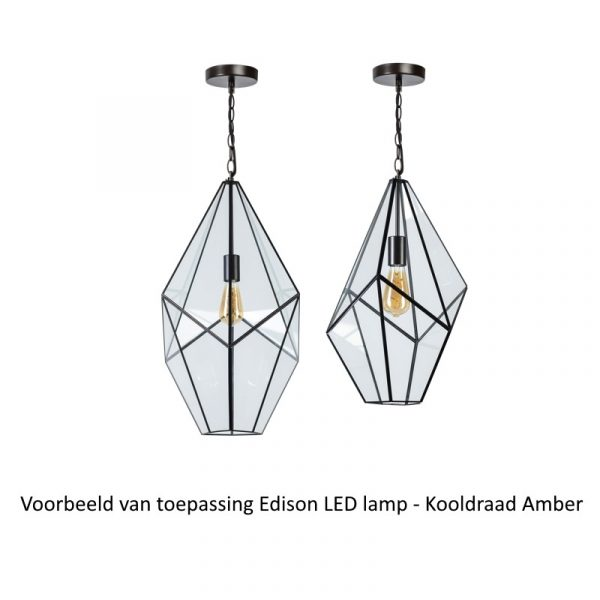 Edison LED lamp | Voorbeeld - toegepast in hanglamp