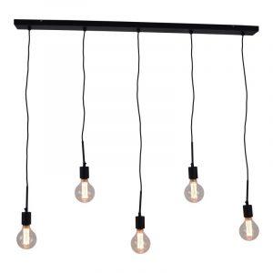 Bulby 5-lichts | Hanglamp Met 5 Globe Kooldraad Lampen 95 mm Helder
