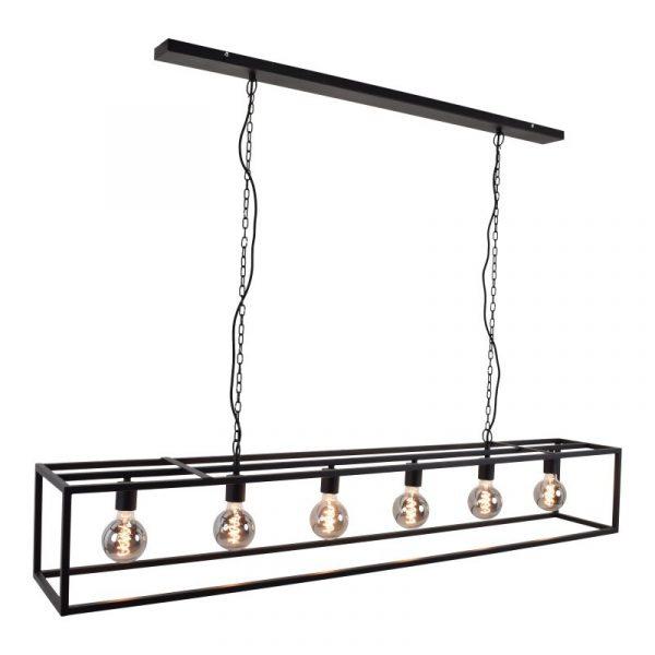 Cubic Large | Hanglamp Industrieel met zwart frame