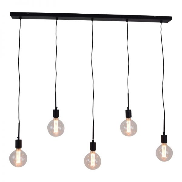 Hanglamp Bulby - Met 5 lichtpunten & incl 5 x Globe Lamp