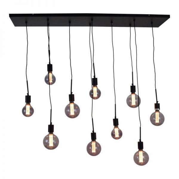 Hanglamp met 10 lampen, fittingen en snoeren - Bulby 10-lichts