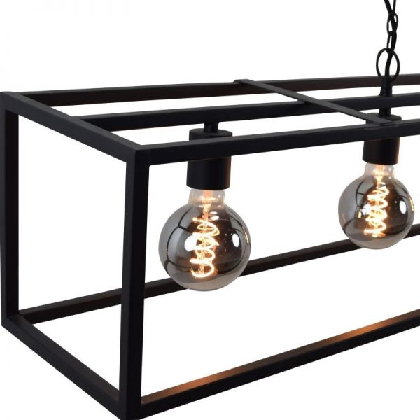 Cubic Large Hanglamp Zwart Frame - Detail