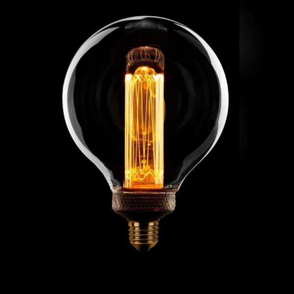 Hanglamp inclusief 7 x Kooldraadlamp LED Helder Glas 125 mm