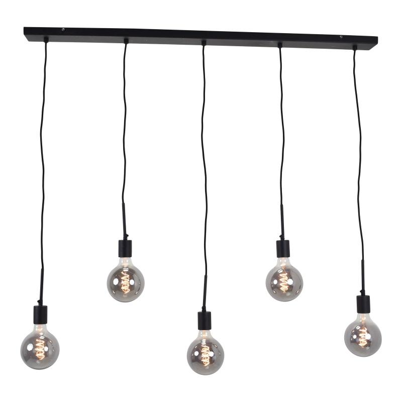 Plafondbalk Zwart - Voor 5 Lampen