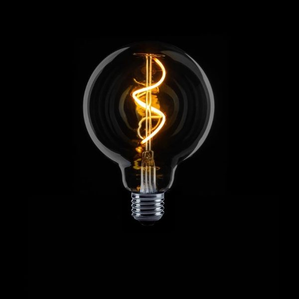 Hanglamp incl. 7 x LED Lamp met Spiraal - E27 (rookglas)