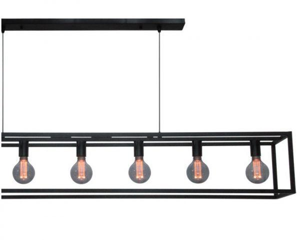 Hanglamp Zwart Metalen Frame Cubic XL