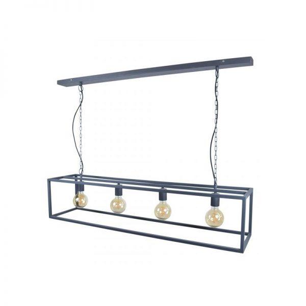 Hanglamp Cubic | Zwart Frame Rechthoek