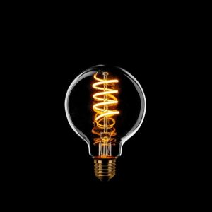 LED Lamp Spiraal - Rookglas Dimbaar 80 mm