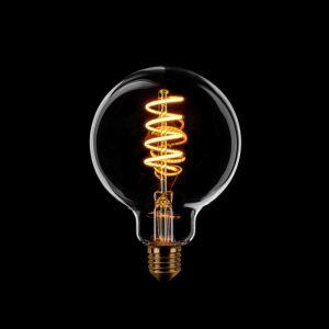 LED Spiraal Lamp | Rookglas 95 mm