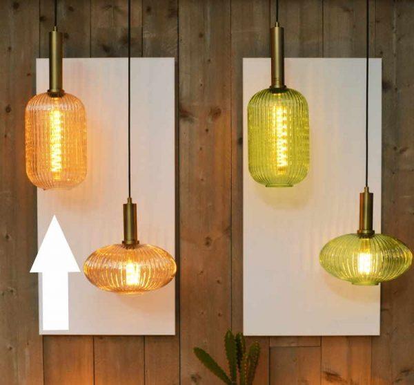 Hanglampen met kap van glas - Retro & Vintage
