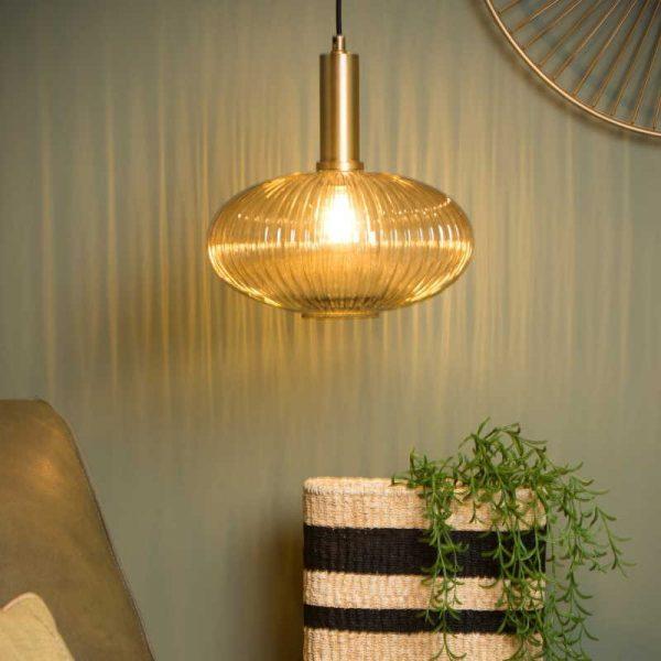 Lamp met ovalen kap (glas) - Danique