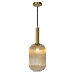 Hanglamp Danique - Cilinder Amber Glas
