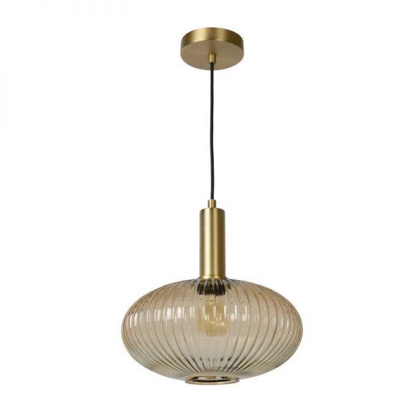 Hanglamp Danique met ovalen glazen lampenkap