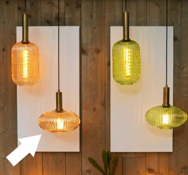 Hanglampen Met Glazen Kappen - Retro
