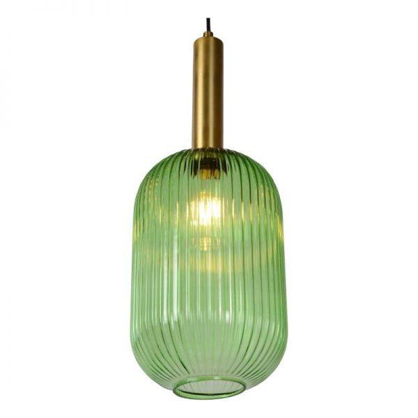 Lampenkap Glas Groen Retro - Danique Hanglamp