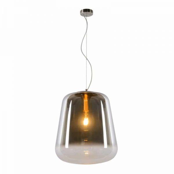 Glazen Hanglamp Rookglas - Bert