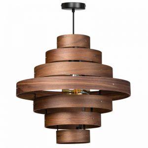 Grote houten hanglamp - Luxa